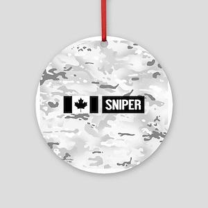 Canadian Military: Sniper (Arctic) Round Ornament