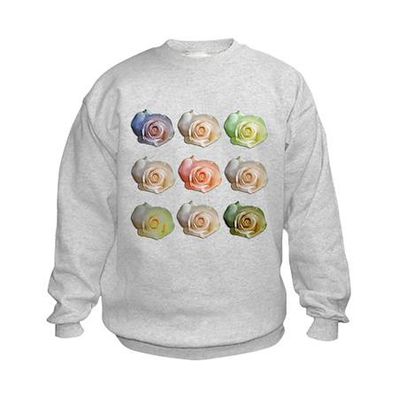 Nine Colored Roses Kids Sweatshirt