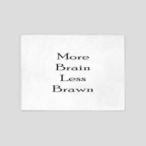 More Brain 5'x7'Area Rug