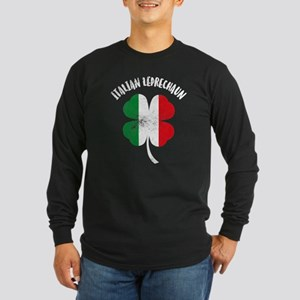Italian Leprechaun Long Sleeve Dark T-Shirt