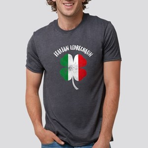 Italian Leprechaun Mens Tri-blend T-Shirt