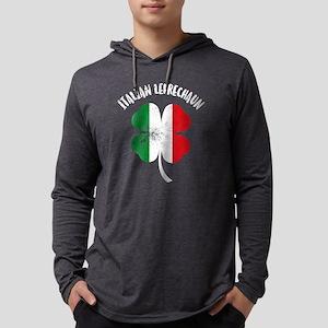 Italian Leprechaun Mens Hooded Shirt