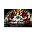 Angel Stained Glass (reflecti Rectangle Magnet