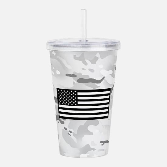 U.S. Flag: Arctic Camo Acrylic Double-wall Tumbler