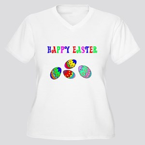 Happy Easter Women's Plus Size V-Neck T-Shirt
