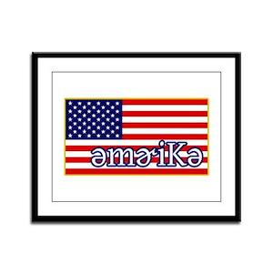 Phonetics America Framed Panel Print