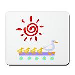 Duck Family Walk Mousepad