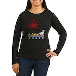 Duck Family Walk Women's Long Sleeve Dark T-Shirt
