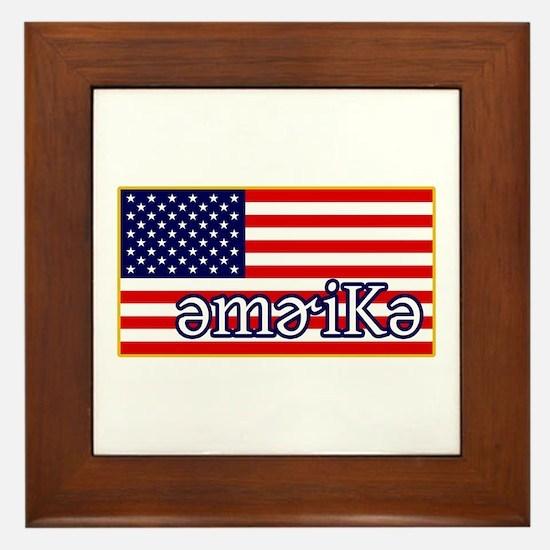 Phonetics America Framed Tile