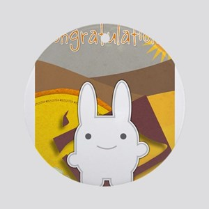 Congratulations Bunny Round Ornament