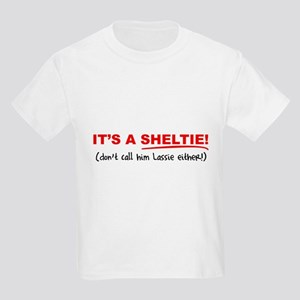 It's a SHELTIE! (male) Kids Light T-Shirt