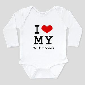 I love my aunt + uncle Infant Bodysuit Body Suit