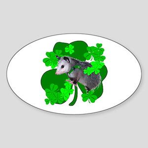 Lucky Irish Possum Oval Sticker