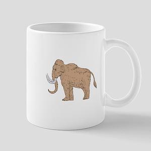 Woolly Mammoth Side Drawing Mugs