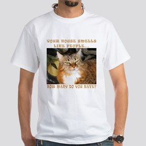 Funny Cat White T-Shirt