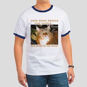 Funny Cat Ringer T