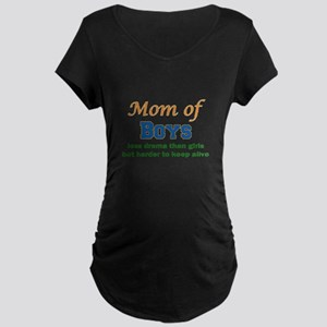 Mom of Boys Maternity T-Shirt