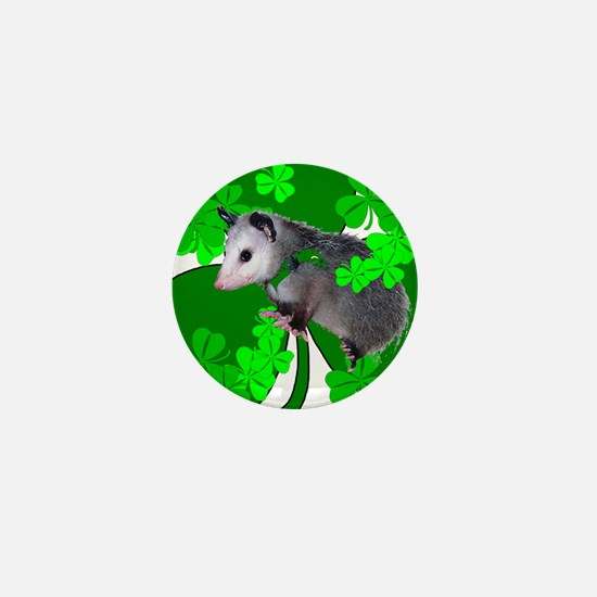 Lucky Irish Possum Mini Button
