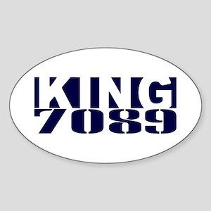 KING 7089 Sticker (Oval)