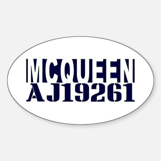 McQUEEN AJ19261 Sticker (Oval)