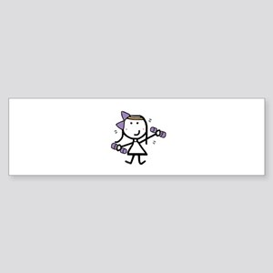 Girl & Exercise Bumper Sticker