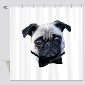 Boy Pug Shower Curtain