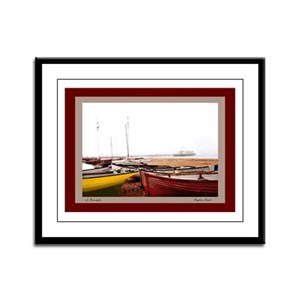 Brighton Beach Boats Framed Panel Print