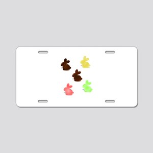 Candy Easter Bunnies Aluminum License Plate
