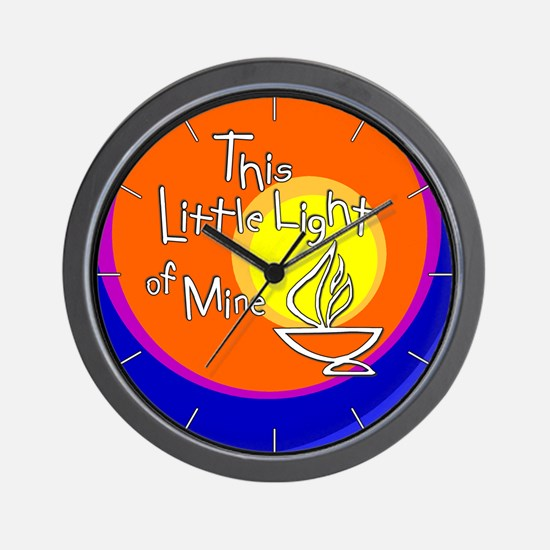 """""""This Little Light of Mine"""" Wall Clock"""