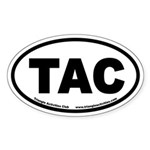 Triangle Activities Club TAC Oval Sticker