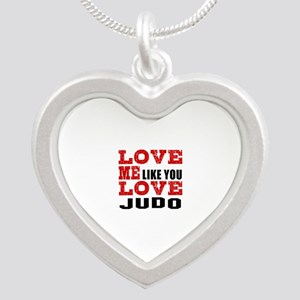 Love Me Like You Love Judo Silver Heart Necklace