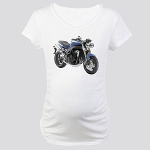 Triumph Speed Triple Blue #1 Maternity T-Shirt