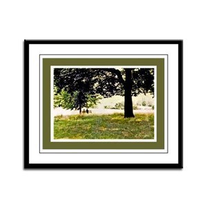 Courting in Hampstead Heath Framed Panel Print