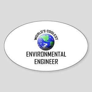 World's Coolest ENVIRONMENTAL ENGINEER Sticker (Ov