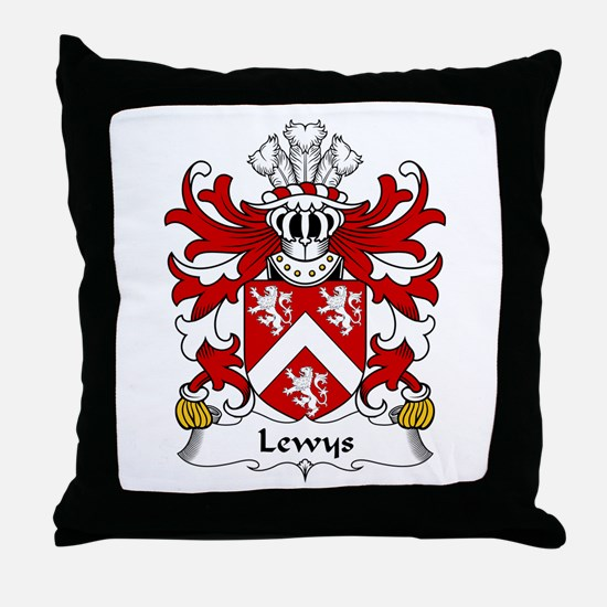 Lewys (of Bodedern, Llifon, Anglesey) Throw Pillow