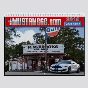 2018 Mustang6g Wall Calendar