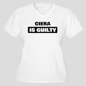 CIERA is guilty Women's Plus Size V-Neck T-Shirt
