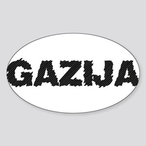 Gazija Oval Sticker