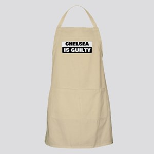 CHELSEA is guilty BBQ Apron