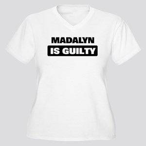 MADALYN is guilty Women's Plus Size V-Neck T-Shirt