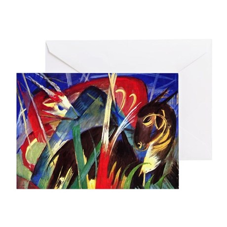 Fable Animals by Franz Marc Greeting Card