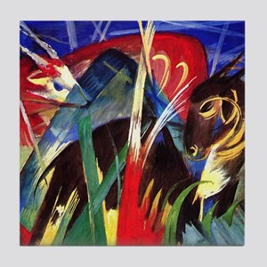 Fable Animals by Franz Marc Tile Coaster