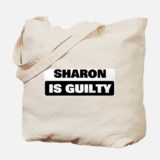 SHARON is guilty Tote Bag