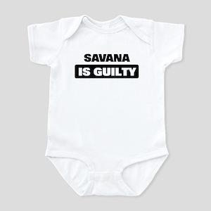 SAVANA is guilty Infant Bodysuit