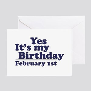 February 1st Birthday Greeting Card