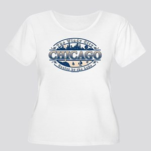 Chicago-Oval-in-2-c... Plus Size T-Shirt