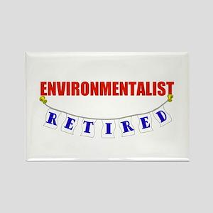 Retired Environmentalist Rectangle Magnet