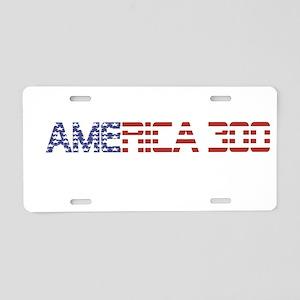America Flag Racer Aluminum License Plate