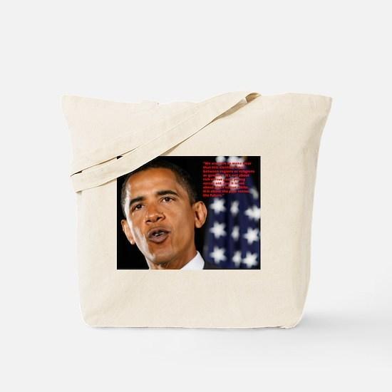 Barack Obama Past vs Future Quote Tote Bag