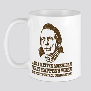 Native American Immigration Mug